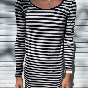 Navy and White Striped H&M Dress